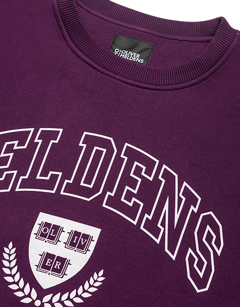 Purple Heldens University Sweater